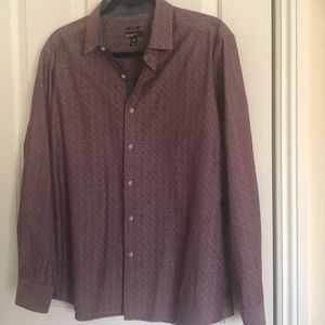 bar III slim fit long sleeve button down top